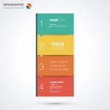 Infographic-Schablone mit Platz für Ihren Inhalt Lizenzfreie Stockfotografie