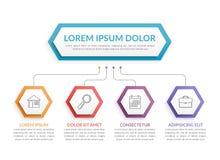 Infographic-Schablone mit 4 Schritten Lizenzfreie Stockbilder