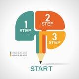 Infographic-Schablone mit Schritten Stockfotos