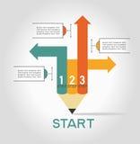Infographic-Schablone mit Schritten Lizenzfreie Stockbilder