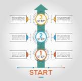 Infographic-Schablone mit Schritten Stockfotografie