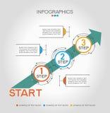 Infographic-Schablone mit Schritten Lizenzfreies Stockbild