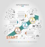 Infographic-Schablone mit Schritten Stockbilder