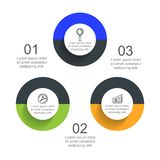 Infographic-Schablone mit Wahl oder Schritt für Geschäftsdarstellung lizenzfreie abbildung