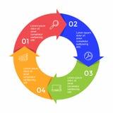 Infographic-Schablone mit Wahl oder Schritt für Geschäftsdarstellung vektor abbildung
