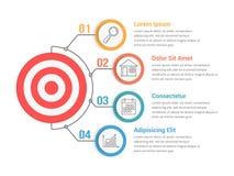 Infographic-Schablone mit Ziel Lizenzfreie Stockbilder