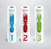 Infographic-Schablone modernes zylinderförmiges Ba Designs style.numbered Lizenzfreies Stockbild