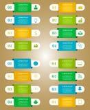 Infographic-Schablonen für Geschäft Stockbild