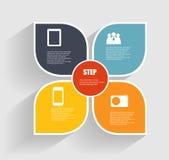 Infographic-Schablonen für Geschäfts-Vektor Stockfotografie
