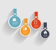 Infographic-Schablonen für Geschäfts-Vektor Stockfoto
