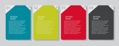 Infographic-Schablonen für Geschäfts-Vektor Lizenzfreies Stockbild