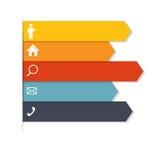 Infographic-Schablonen für Geschäfts-Vektor Stockbilder