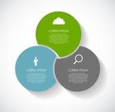Infographic-Schablonen für Geschäfts-Vektor Lizenzfreies Stockfoto