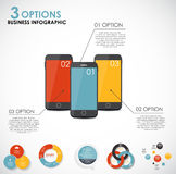 Infographic-Schablonen für Geschäfts-Vektor Lizenzfreie Stockfotografie