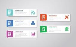 Infographic-Schablonen für Geschäfts-Vektor Stockbild