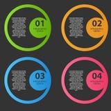 Infographic-Schablonen-Vektorillustration Lizenzfreie Stockfotografie