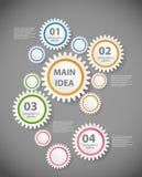 Infographic-Schablonen-Vektorillustration Stockfotografie