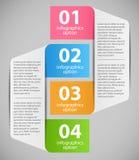 Infographic-Schablonen-Vektorillustration Stockbild