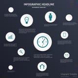 Infographic-Schablonendesign Stockfoto