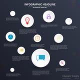 Infographic-Schablonendesign Stockbilder