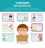Infographic Schablonendesign der Bildung, Bildungskonzept-Vektor Illustration, Lizenzfreie Stockfotos