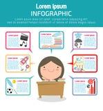 Infographic Schablonendesign der Bildung, Bildungskonzept-Vektor Illustration, Stockbild