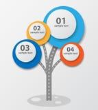Infographic-Schablonendesign mit Baum. Lizenzfreies Stockbild