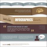 Infographic-Schablonenentwurf Stockbild