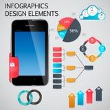 Infographic-Schablonengeschäfts-Vektorillustration Stockbild