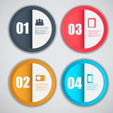 Infographic-Schablonengeschäfts-Vektorillustration Lizenzfreies Stockbild