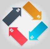 Infographic Schablonengeschäfts-vektorillustration Stockfoto