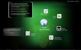 Infographic Schablonenvektor des Computers Lizenzfreie Stockfotografie