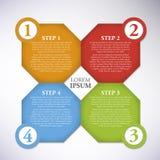 Infographic-Schritt Lizenzfreies Stockbild