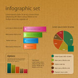 Infographic set on brown paper Stock Photography