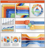 Infographic set. Set of charts, templates, and infographic Stock Photography