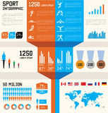 Infographic Set des Sports Lizenzfreies Stockbild