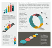 Infographic set of  diagrams. Royalty Free Stock Photos