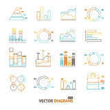 Infographic Set Element Outline. Vector Royalty Free Stock Image