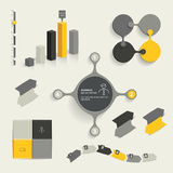 Infographic set elements. Royalty Free Stock Photo