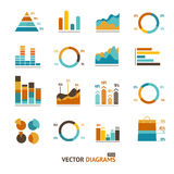Infographic set elements, graph, diagrams Royalty Free Stock Photography