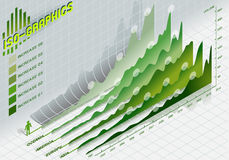 Infographic set elements in green. Detailed illustration of a infographic set elements in green Stock Photography