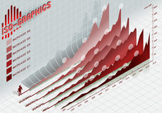 Infographic set elements in red. Detailed illustration of a infographic set elements in red Royalty Free Stock Photo