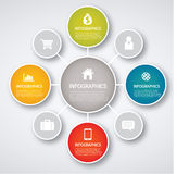 Infographic. Set of infographic elements for showing statistics and demographics Stock Images