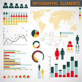 infographic set för element Arkivbilder