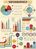 infographic set för element Royaltyfria Bilder