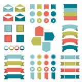 Infographic set of flat diagrams. Royalty Free Stock Photos