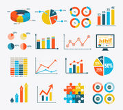 Infographic Set Graph and Charts, Diagrams Stock Photography