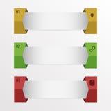 Infographic Set liczący sztandary z ikonami ilustracja wektor