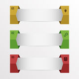 Infographic. Set of numbered banners with icons. Vector illustration Royalty Free Stock Photo