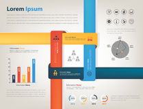 Infographic for sharing company information Stock Photography